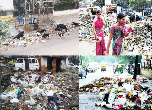 A Piece of land which was selected for the use of the residents as a common area of get together is now used by #BBMP as a dumping are in the middle of the residential area.
