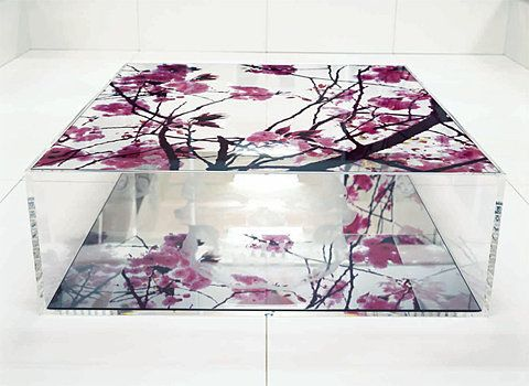 Living In DC, Itu0027s Difficult To Express How Much I Love Artist Kimiko  Yoshidau0027s Glass Coffee Table Hand Painted With Cherry Blossoms.
