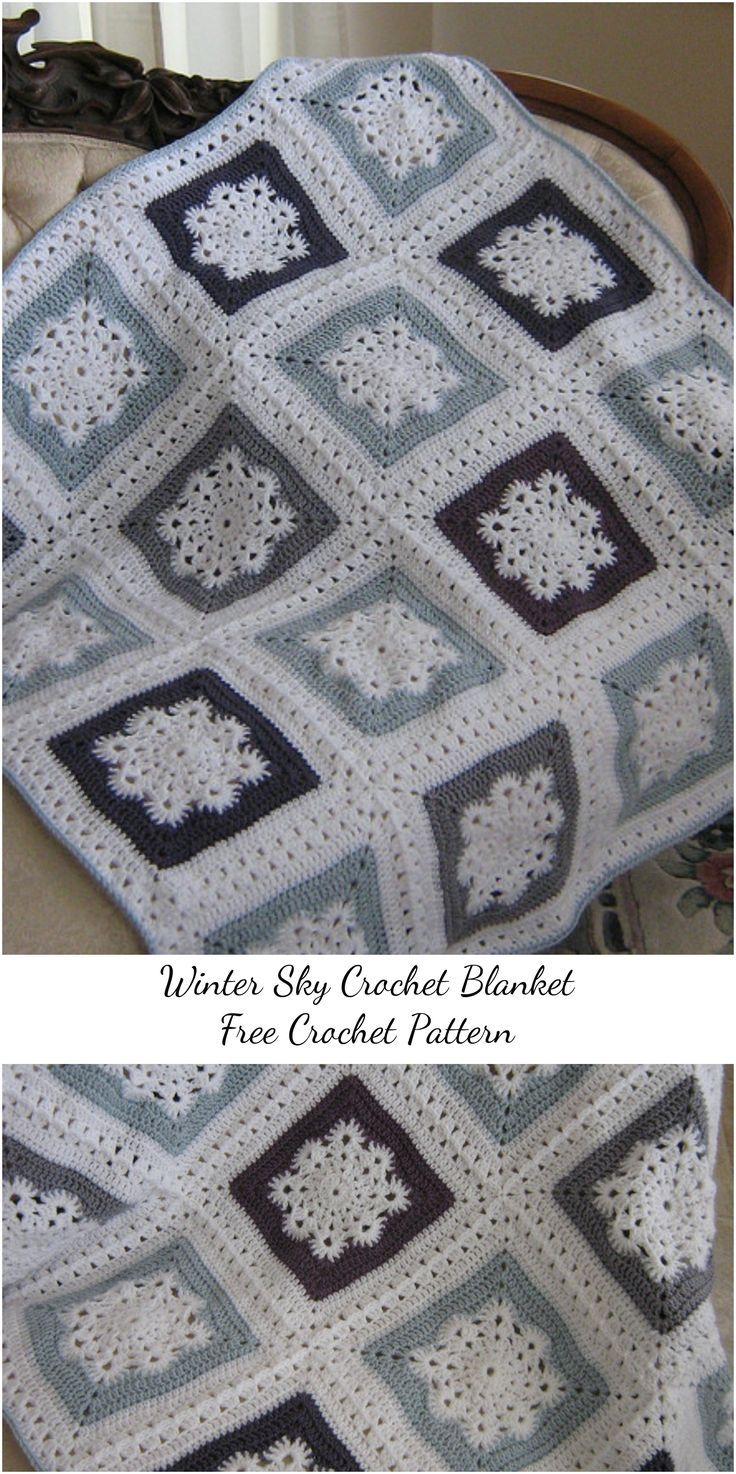 Winter Sky Crochet Blanket – Free Pattern #winteriscoming #crochetlove #crochetpatterns