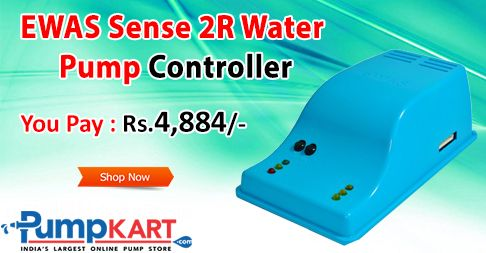 #EWAS Sense 2R #Water_Pump_Controller is an automatic water pump Controller and switching (on/off) based on immaculate sensors. It's suitable for household and industrial water pumps. Buy it online only at Rs.4,884. Checkout the product page @ Pumpkart
