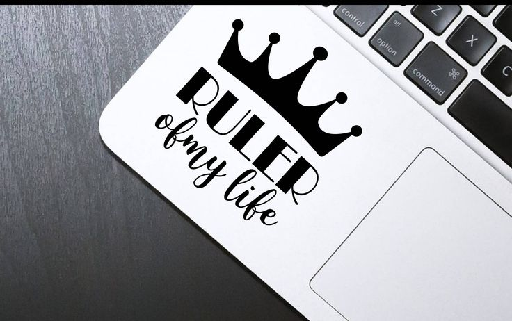 Decal [Ruler of my life], Laptop decal, Macbook decal, sticker, iphone sticker, Laptop vinyl sticker, iphone decal, macbook vinyl by SexyandMotivated on Etsy