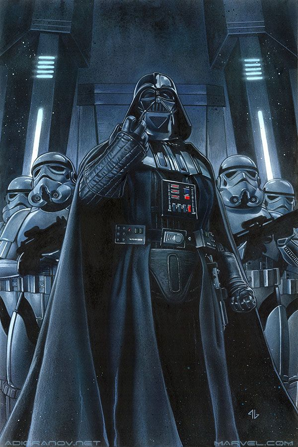 adigranovart:    Darth Vader #9 Variant Cover  Acrylic paint and oil pastels on board.