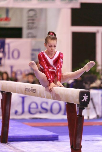 Norah Flatley. I'm obsessed with her beam routine!