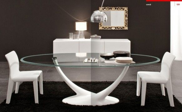 Dining room Cattelan Italia white great Italy mirror