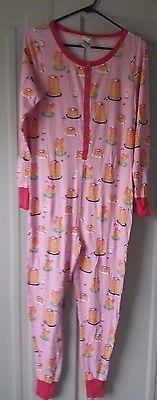 Munki Munki Sz M Pancake One Piece Pajama Sleeper Romper NWOT Sleepover Party