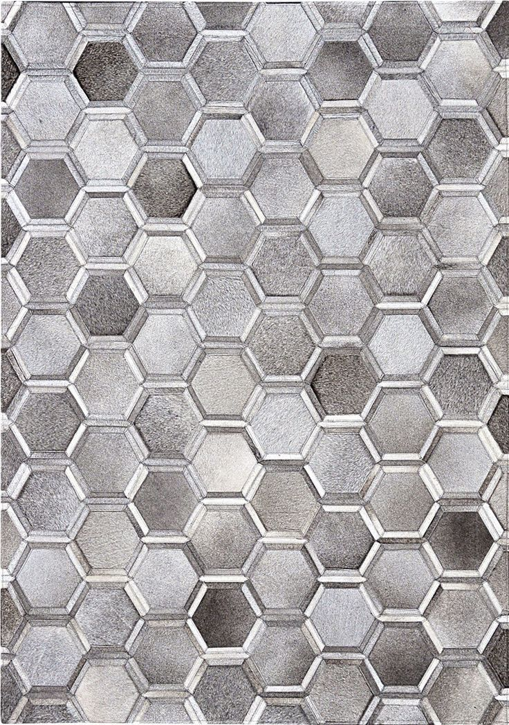 Madisons Gray Cowhide Area Rug 3d Hexagon Pattern Cowhide Patchwork Design Patchwork Cowhide Patchwork Cowhide Rug Cow Hide Rug