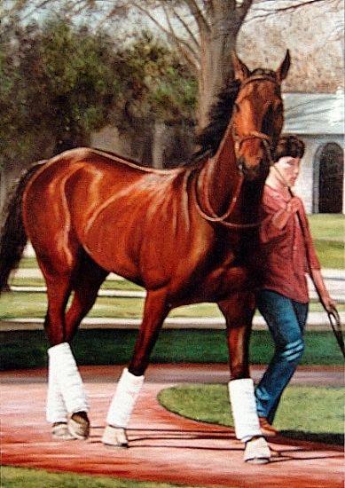 MARY HAGY - The Walk- Keeneland- Oil - Painting entry - November 2014   BoldBrush Painting Competition