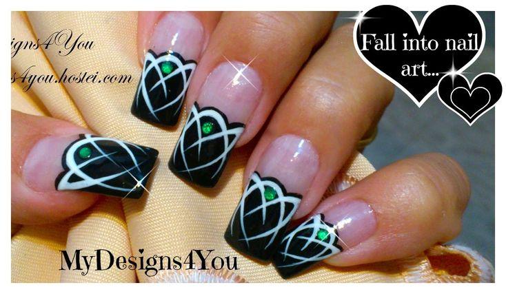 Celtic Nail Art Tutorial | Emerald Gem Nails | Tattoo Nails ♥ Кельтский ...