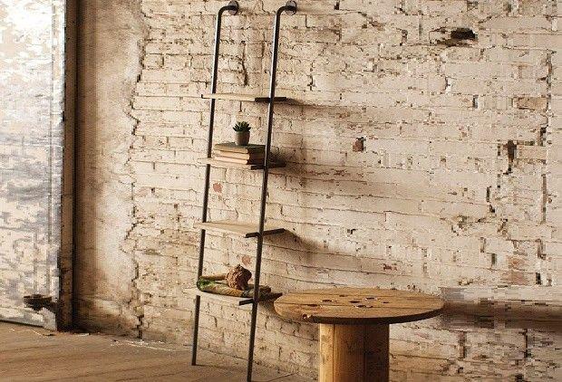 Leaning Ladder Shelf | Leaning Shelves