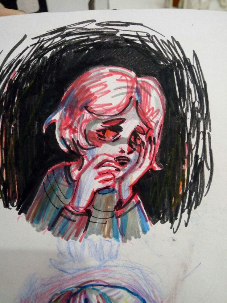 Afraid of making mistakes. help #heplessness #helpme #art #doodle #sketchbook #sketch #depression
