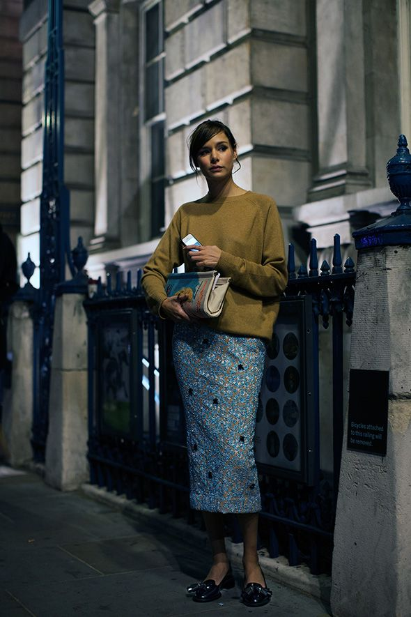 On the Street….Late Evening Somerset House, London via 'the 'sartorialist