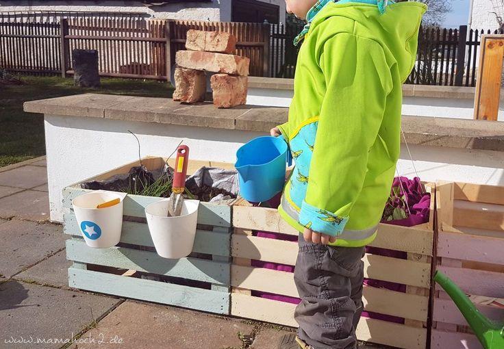 Diy Hochbeet Kinder Weinkisten Obstkisten Garten Beet Pflanzkiste 12 Diygartenkinder Garten Hochbeet Kinder Obstk Garden Boxes Diy Kid Beds Wine Crate