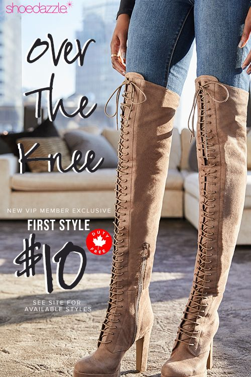Hey Girl! The Fall Sale Is Here - Get Your First Pair of Over The Knee Boots for Only $10! Take the 60 Second Style Quiz to get this exclusive offer!