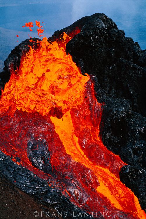 Erupting lava, Pu'u 'O'o, Hawaii Volcanoes National Park, The Big Island of Hawaii. #lava #hawaii