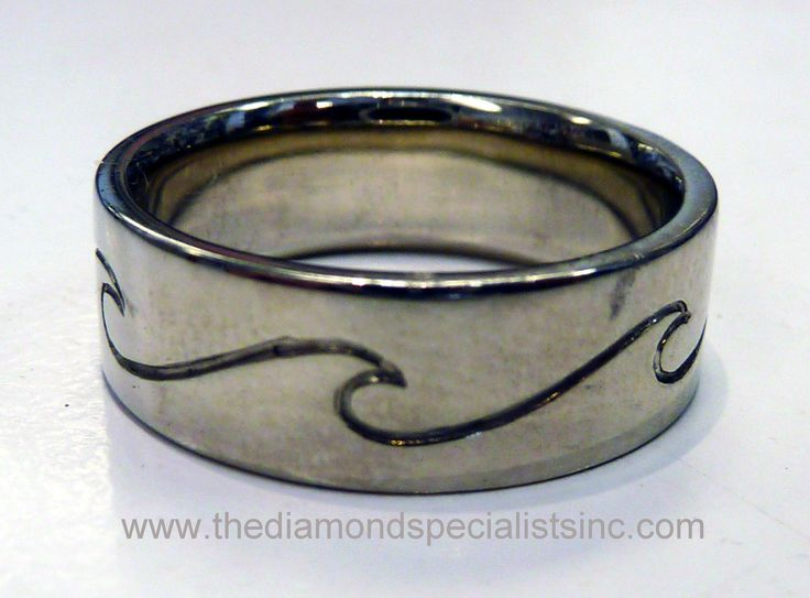Men's surfer wedding band.