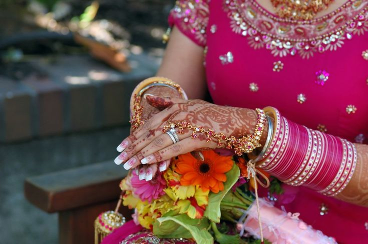 Indian Bridal Nail Art Matching The Attire