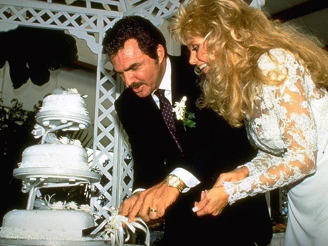 Loni anderson burt reynolds wedding cake famous for What to do with old wedding dress after divorce