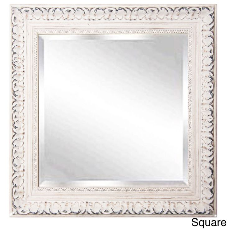 american made rayne french victorian white wall vanity mirror 215 x 255 rectangle