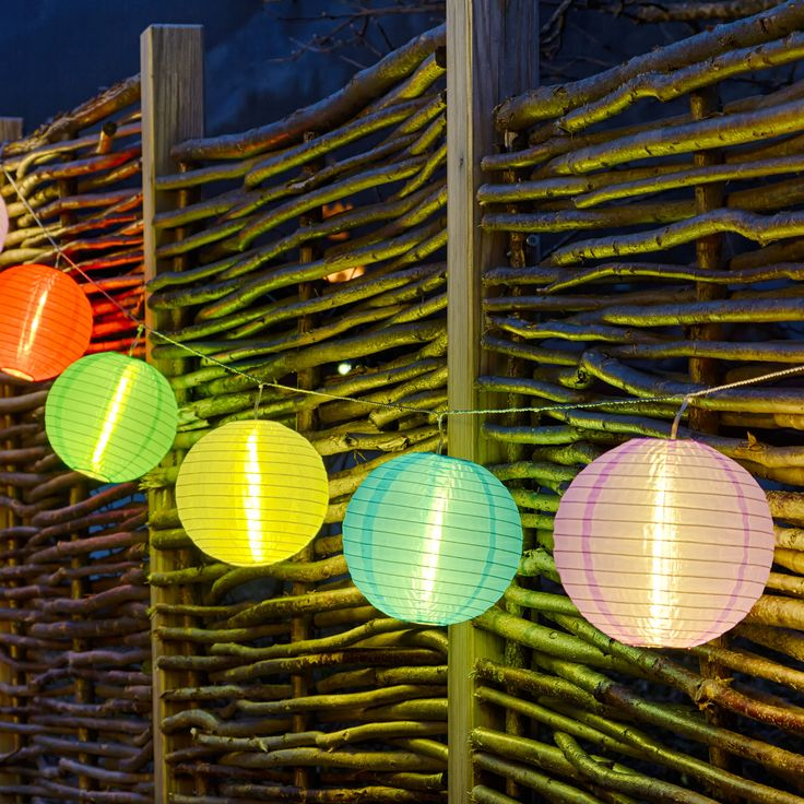 Illumina il tuo party con un filo di lanterne cinesi colorate led ad energia solare