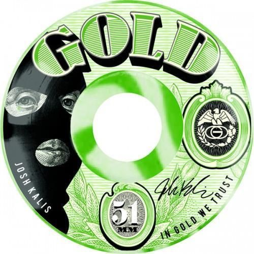 #Brand new 51mm currency skateboard #wheels gold josh #kalis #wheel green skate pr,  View more on the LINK: 	http://www.zeppy.io/product/gb/2/232138415139/