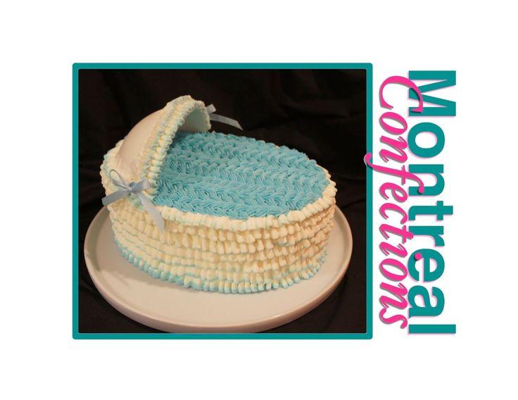 How to make a bassinet cake - Easy buttercream cake decorating