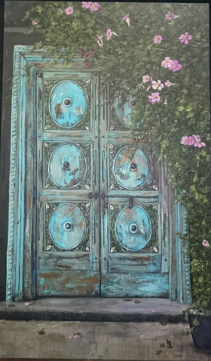 Mariette's door Painting by Herma Kitching