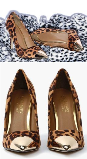 Leopard Pumps with Gold Toes!