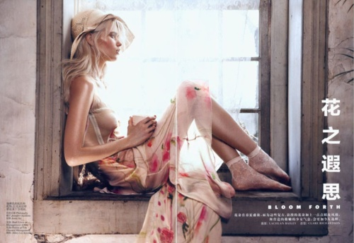 floral light: Spring Dresses, Style, Abbeyleekershaw, Lachlan Baileys, Fashion Editorial, Vogue China, Abbey Lee Kershaw, Photography, Fashion Shoots