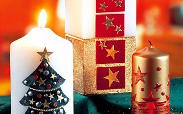 Kerzen zur Weihnachtszeit selbst gestalten