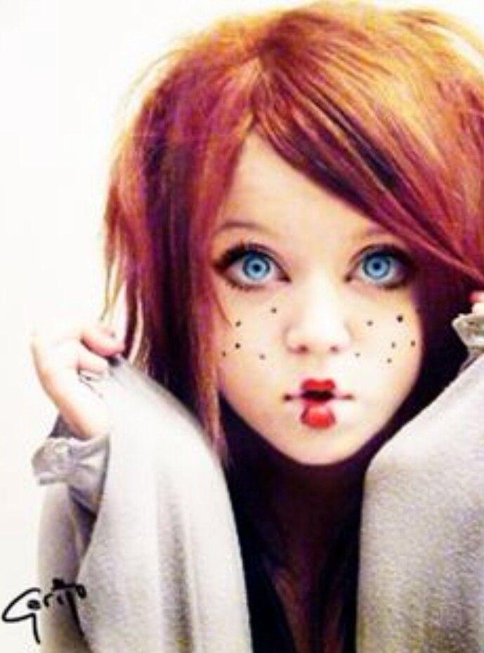 Halloween ideas... cute rag doll makeup!