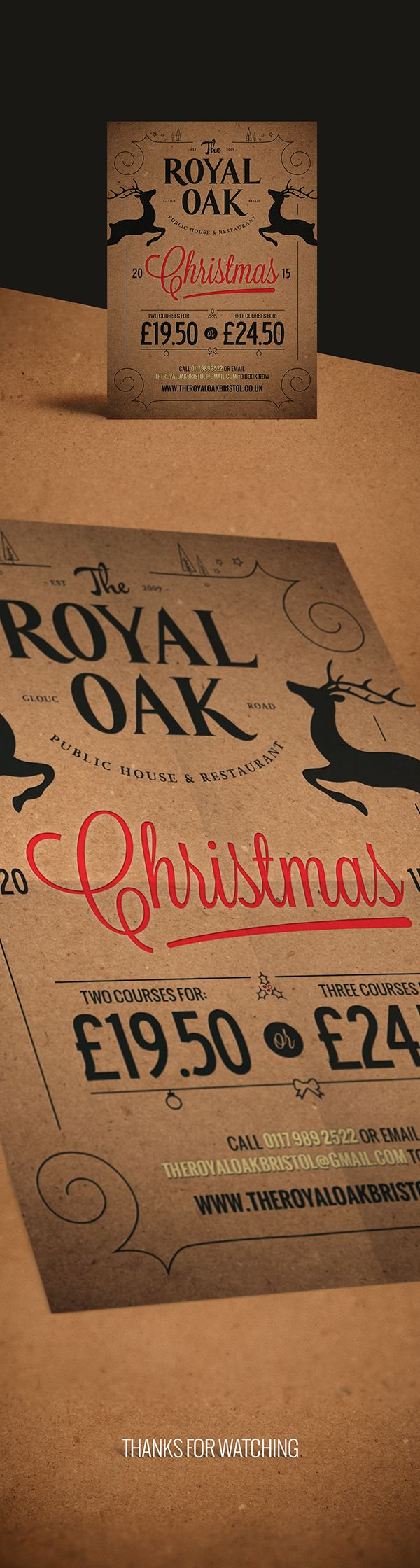 The Royal Oak Christmas 2015 Flyer