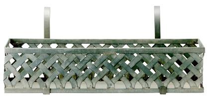Balkonglåda i zink från Bloomingville.
