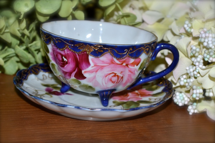 Hand Painted In P Blue China