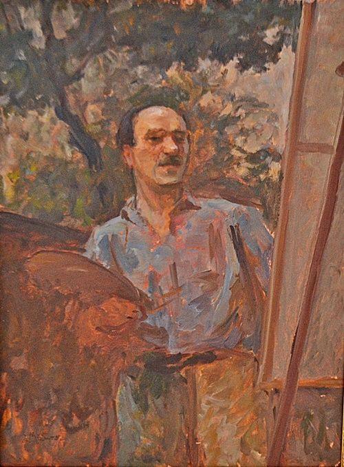 Samuel Mützner (1884-1959) Mutzner - Caracas, în fața șevaletului / Mützner - Caracas in front of the easel