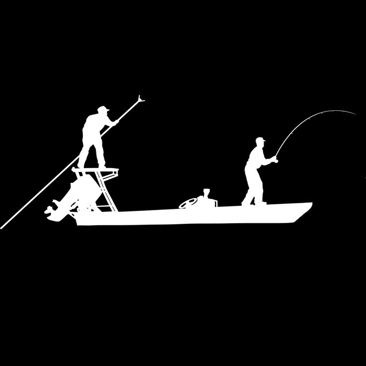 Skiff Life Poling Skiff Boat Flats Fishing Decals Stickers Boat - Boat stickers and decals