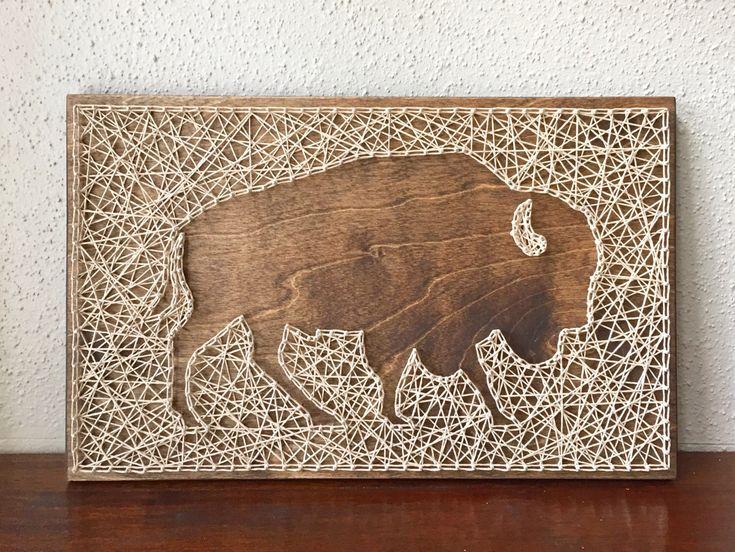 Custom Buffalo String Art by CactusCustomDesigns on Etsy https://www.etsy.com/listing/265311389/custom-buffalo-string-art
