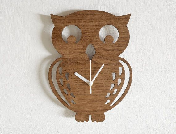 Wooden+Owl+Kids+Cartoon+Silhouette++Wooden+Wall+by+SolPixieDust,+$28.90