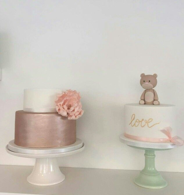 Cake decorations in our shop:) Copper wedding cake and Teddy bear baptism cake  www.bakemydaydk.com