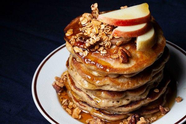Apple Cinnamon Sour Cream Pancakes Recipe In 2020 Sour Cream Pancakes How To Cook Pancakes Apple Recipes