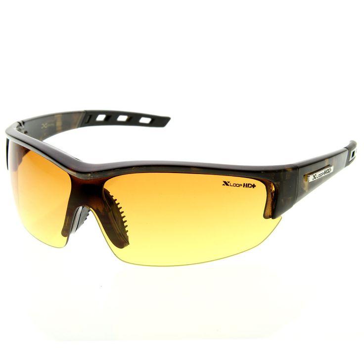 X-Loop HD Brand Eyewear Half Frame Anti-Glare Lens Sports Frame Sunglasses