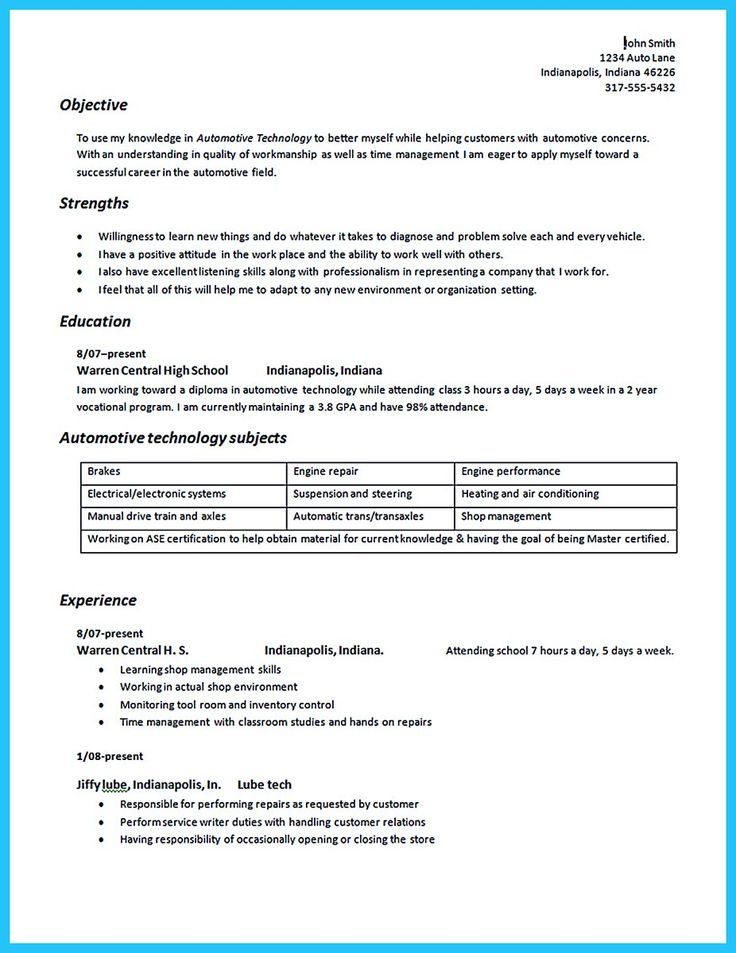 Before starting to write an auto technician resume, you need to learn how to write it well. In this case, some criteria are crucial to consider. One o... automotive technician resume samples and auto mechanic resume samples Check more at http://www.resume88.com/writing-a-concise-auto-technician-resume/