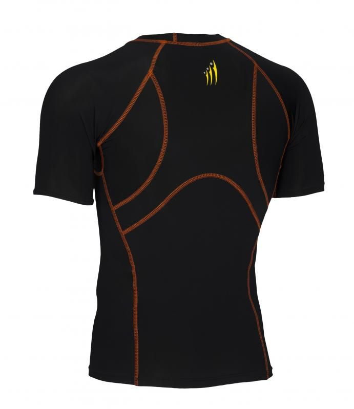 This Half Sleeve Shirt has an ergonomic design with a flat seam construction, designed to reduce chafing and improve the fit to enhance performance. This product is 100% Genuine and come with tags.  Ideal as a base layer or for training, Didoo Shirts are a tight fit compression garment. All Season Compression Baselayer which keeps you cool when its hot and keeps you hot when its cool.