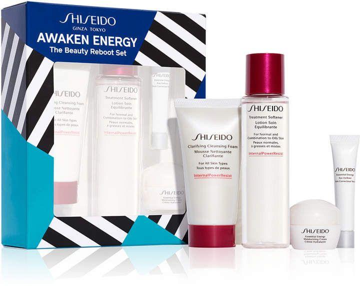 Shiseido 4 Pc Awaken Energy Beauty Reboot Set Shiseido Best Moisturizer Age Defense