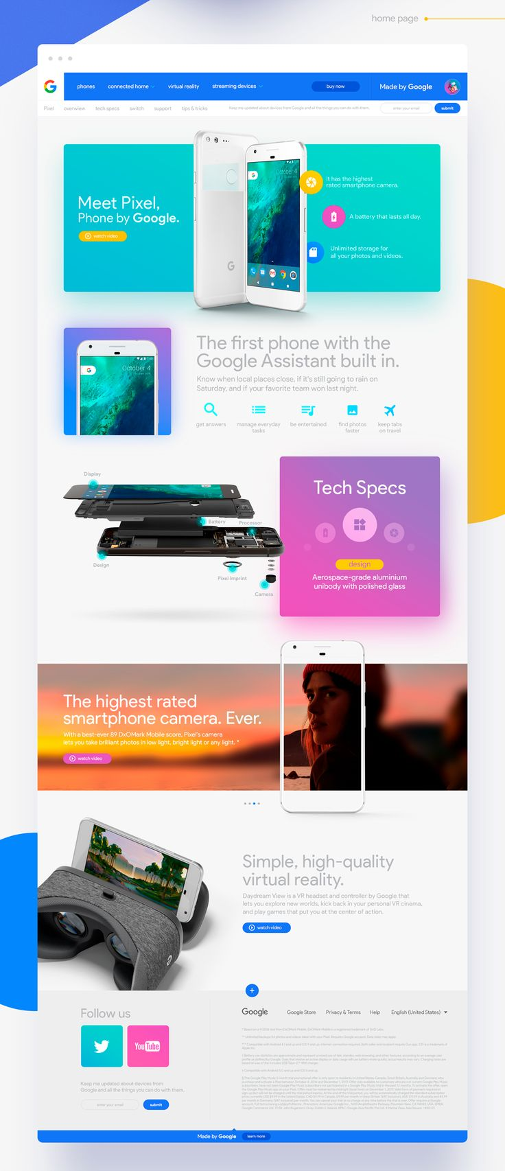 Google Pixel Landing Page Redesign Concept on Behance