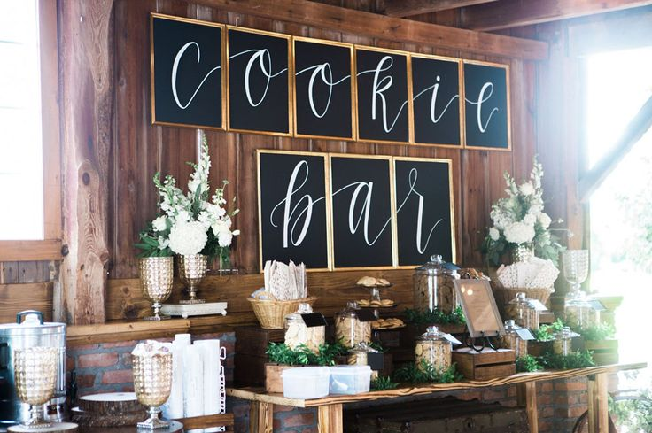 rustic cookie bar