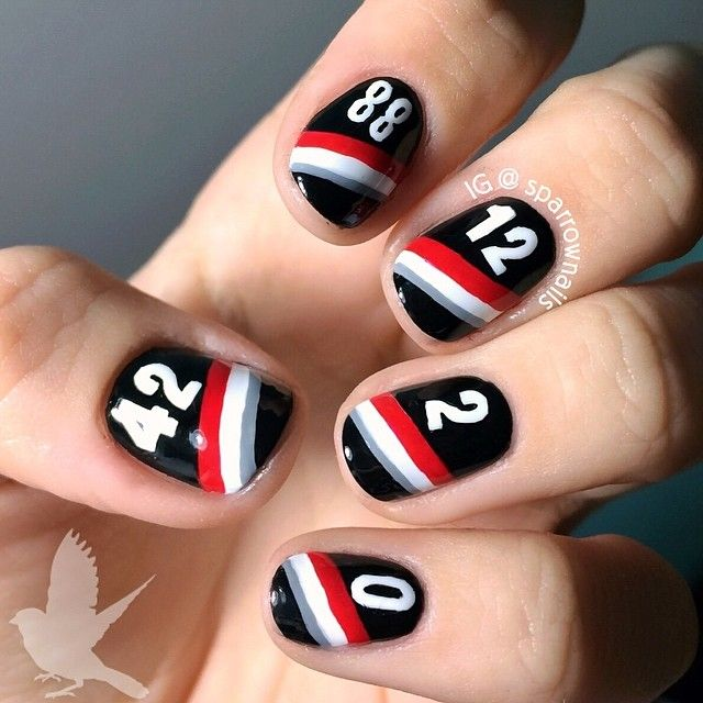 PORTLAND TRAIL BLAZERS by sparrownails #nail #nails #nailart