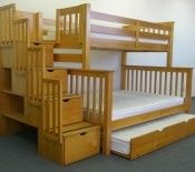 Bunk Beds Twin Full Stairway White + Trundle Bunk Bed King.