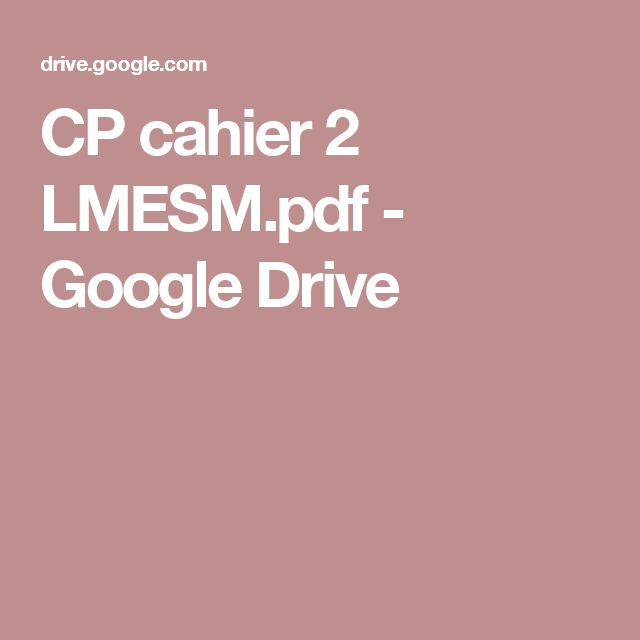 CP cahier 2 LMESM.pdf - GoogleDrive