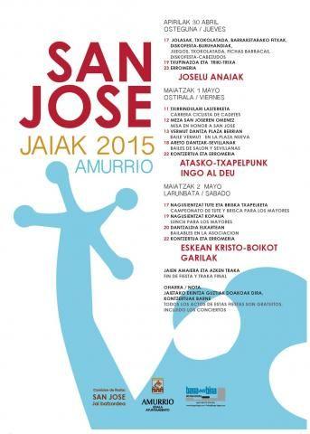 Cartel de fiestas de San José 2015