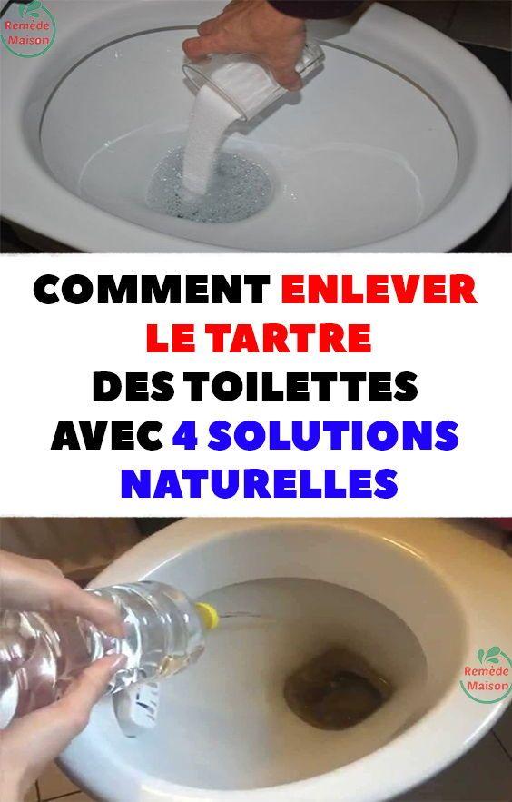 Comment enlever le tartre des toilettes avec 4 solutions naturelles